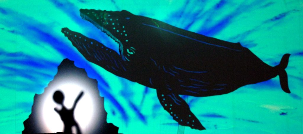THEATRE of IMAGE 'Lulie The Iceberg' Whale & Iceberg Shadow Puppets CBranco Gaica