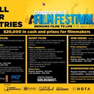 Gold Coast Film Festival – Call for Entries!