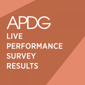APDG Live Performance Survey Newsletter Leader