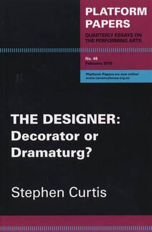 book cover for The Designer: Decorator or Dramaturg
